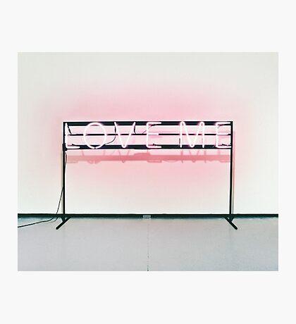 The 1975 // Love Me Neon Sign Design Photographic Print
