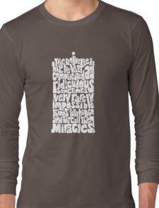 Full of Miracles (white) Long Sleeve T-Shirt