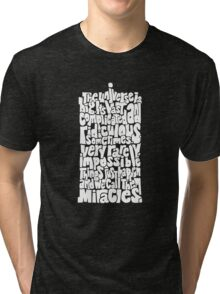 Full of Miracles (white) Tri-blend T-Shirt