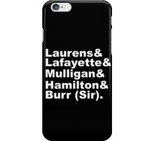 Hamilton Revolutionaries (white) iPhone Case/Skin