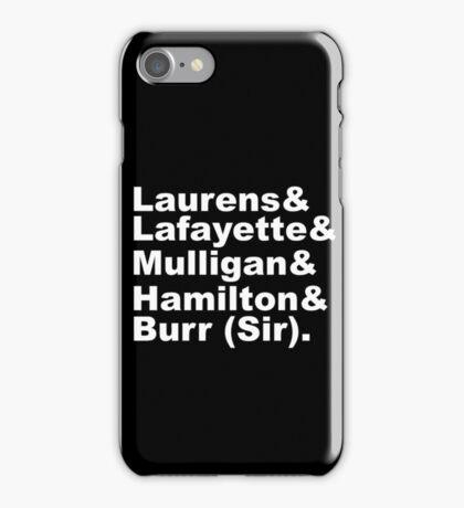 Hamilton Revolutionaries (white) iPhone Case/Skin