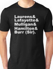 Hamilton Revolutionaries (white) Unisex T-Shirt