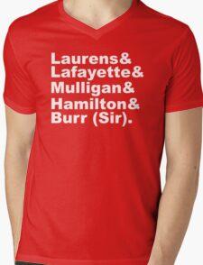 Hamilton Revolutionaries (white) Mens V-Neck T-Shirt