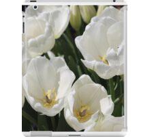 Snow White Tulips iPad Case/Skin