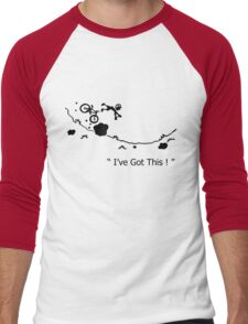 "Cycling Crash, Mountain Bike "" I've Got This ! "" Cartoon Men's Baseball ¾ T-Shirt"