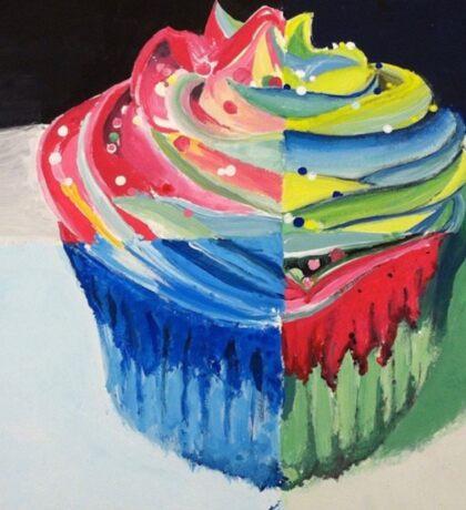 Cupcake Pop Art Sticker