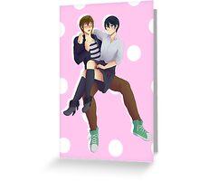 MakoHaru genderfluid haru Greeting Card
