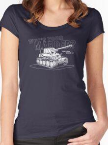 Marder III Anti-Tank Gun Women's Fitted Scoop T-Shirt