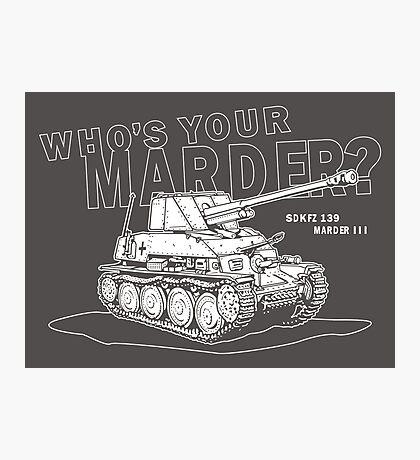 Marder III Anti-Tank Gun Photographic Print