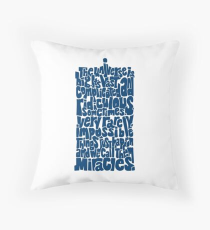 Full of Miracles (blue) Throw Pillow