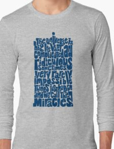 Full of Miracles (blue) Long Sleeve T-Shirt