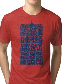 Full of Miracles (blue) Tri-blend T-Shirt