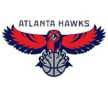 Atlanta Hawks nba logo Photographic Print