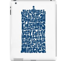 Full of Miracles (blue) iPad Case/Skin