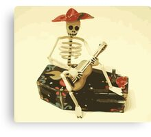 Day of the Dead Guitar Player Canvas Print
