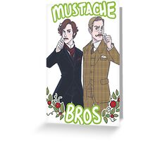 Mustache Bros Greeting Card