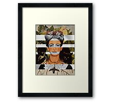"Frida Kahlo's ""Self Portrait"" & Joan Crawford Framed Print"