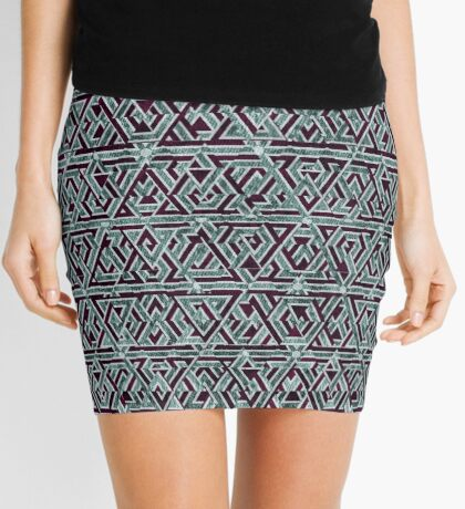 Barok Triangles Inversion Mini Skirt