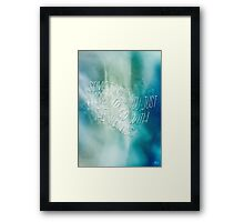 Wavy Ocean Quote Framed Print