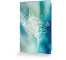 Wavy Ocean Quote Greeting Card