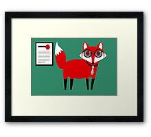 SECOND WORKING FOX  Framed Print