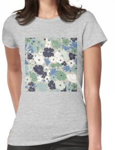 Vinage Flowers Pattern Womens Fitted T-Shirt
