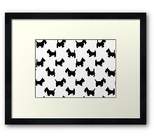 pattern with dogs) Framed Print