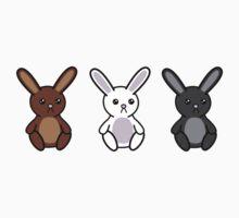 Three little Sad Bunnies One Piece - Short Sleeve