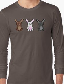 Three little Sad Bunnies Long Sleeve T-Shirt