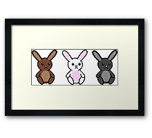 Three little Sad Bunnies Framed Print