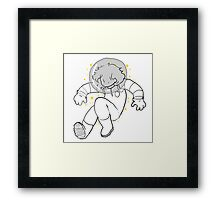 now we're lost in outer space Framed Print