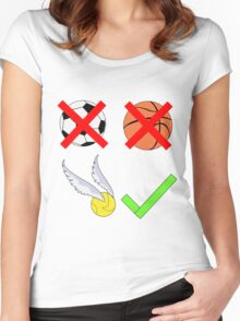 Quidditch Over Everything Women's Fitted Scoop T-Shirt