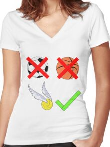 Quidditch Over Everything Women's Fitted V-Neck T-Shirt