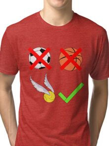 Quidditch Over Everything Tri-blend T-Shirt