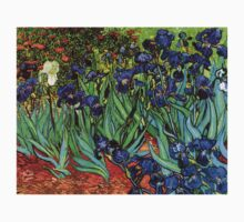 'Blue Irises' by Vincent Van Gogh (Reproduction) One Piece - Short Sleeve