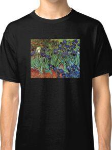 'Blue Irises' by Vincent Van Gogh (Reproduction) Classic T-Shirt