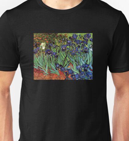 'Blue Irises' by Vincent Van Gogh (Reproduction) Unisex T-Shirt