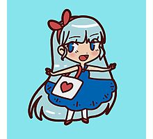 Cute Blue-haired Girl Photographic Print