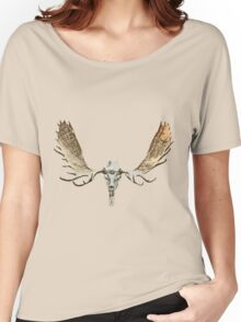 Moose skull Women's Relaxed Fit T-Shirt