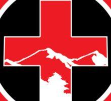 LAKE TAHOE Skiing Ski Patrol Mountain Art Sticker