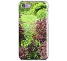 Shrubs with Copper Coloured Leaves - Hyde Hall, Essex iPhone Case/Skin