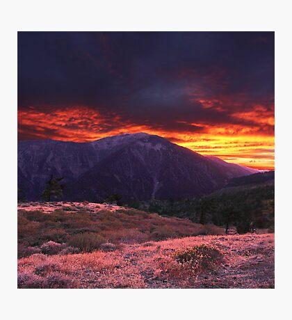 SAN GABRIEL MOUNTAIN SUNSET Photographic Print