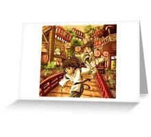 Haku and Chihiro Greeting Card