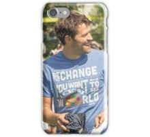 Misha Collins - Laughter iPhone Case/Skin