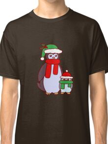 Mama and Baby Christmas Penguins Classic T-Shirt