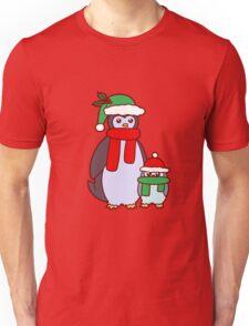 Mama and Baby Christmas Penguins Unisex T-Shirt