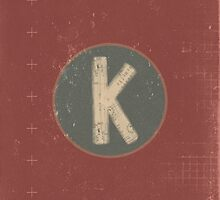 Retro Letter K by alphabeautiful