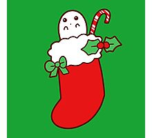 Cute Christmas Stocking Ghost Photographic Print