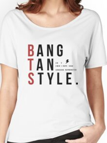 Bangtan Style--with names!  Women's Relaxed Fit T-Shirt