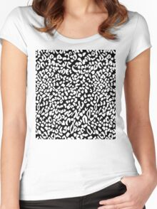 Leopard dots Women's Fitted Scoop T-Shirt
